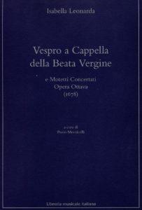 Edizione critica dell'op. VIII di Isabella Leonarda